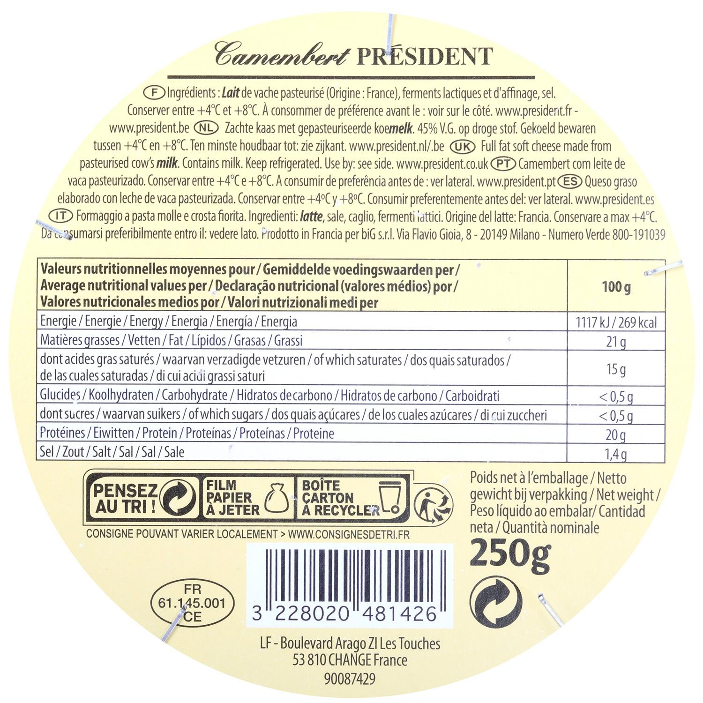 Queso camembert President 250 g - 3