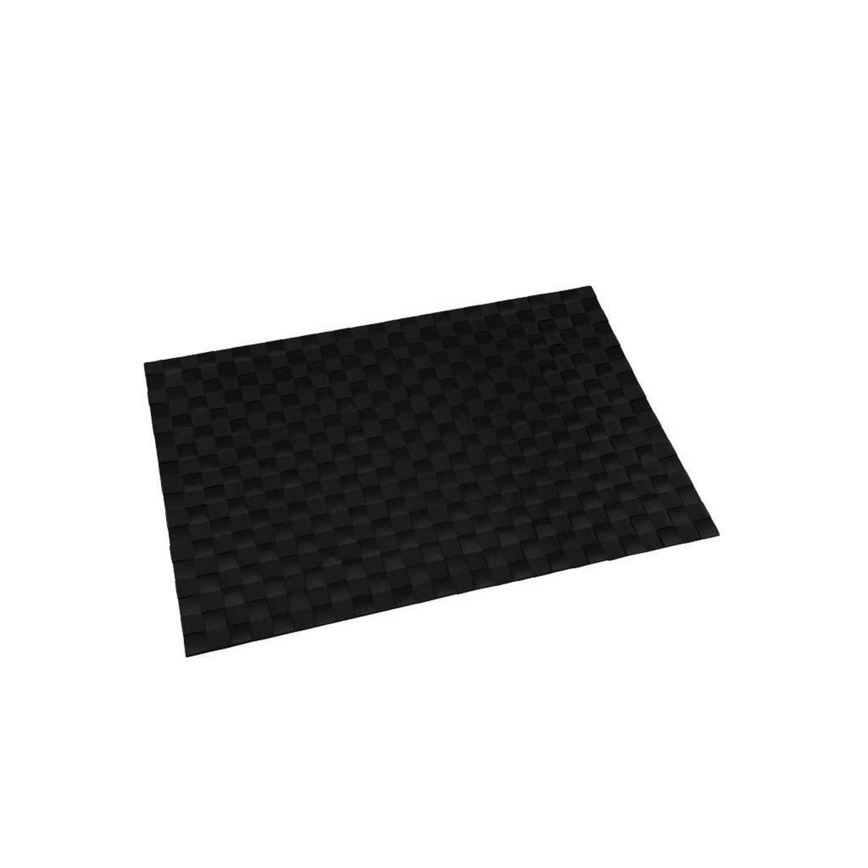 Mantel Individual Cuadrado de Poliester RENBERG 45x30cm - Negro