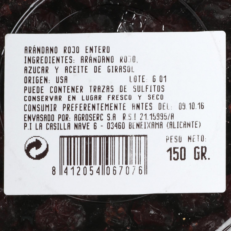 Arandanos rojos deshidratados -
