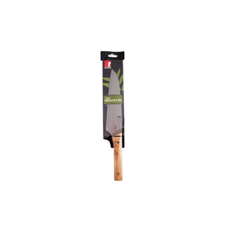 Cuchillo Cocinero de Acero inoxidable BERGNER Nature 20 cm. - Madera -
