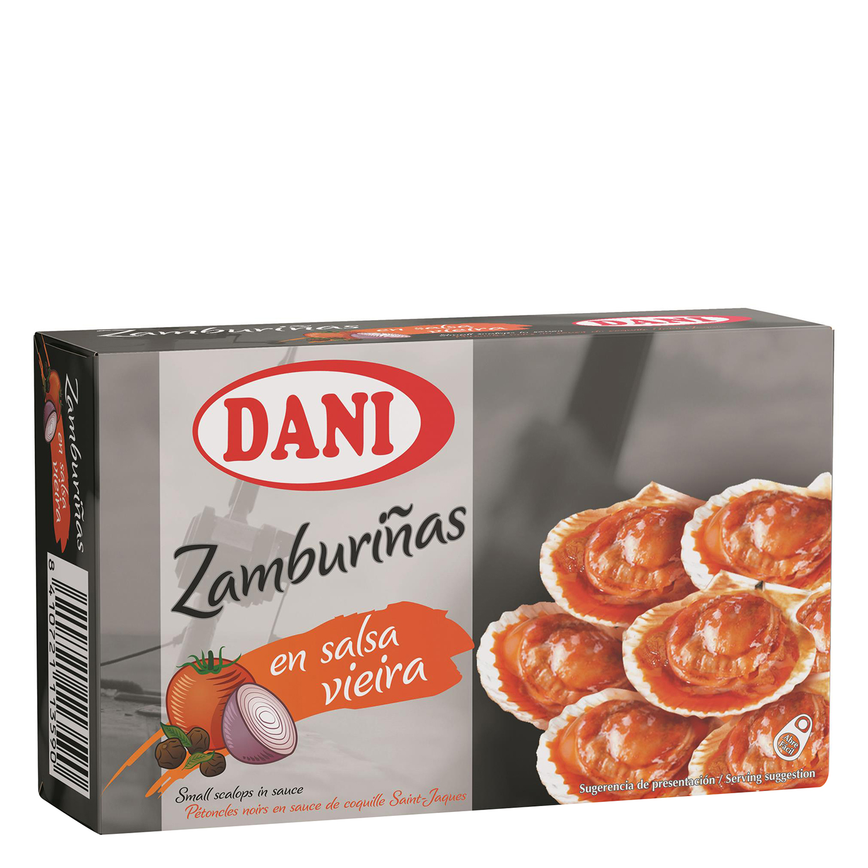 Zamburiñas con salsa de vieira