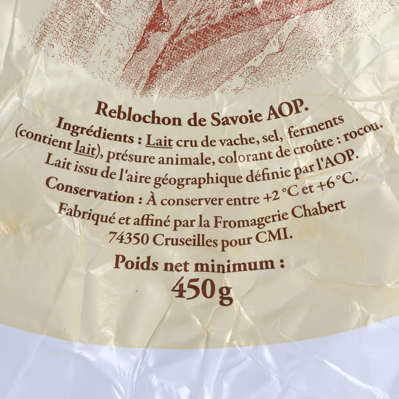Queso reblochon de savoie A.O.P. leche cruda Reflets de France 400 g -