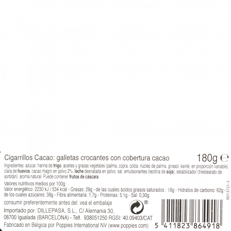 Mini cigarrillos cacao Carrefour 180 g. - 3