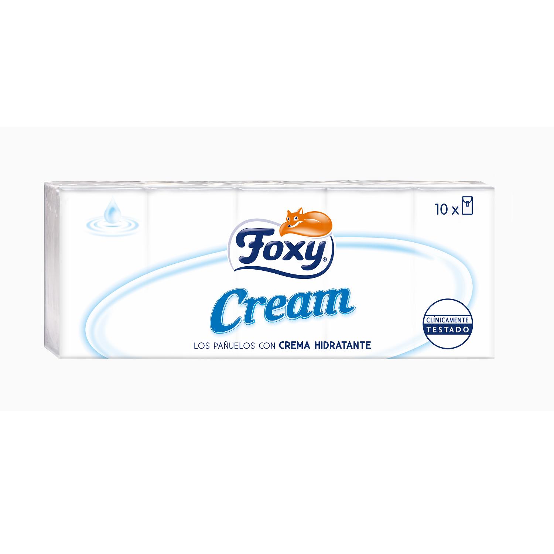 Pañuelos con crema hidratante Foxy 10 ud.