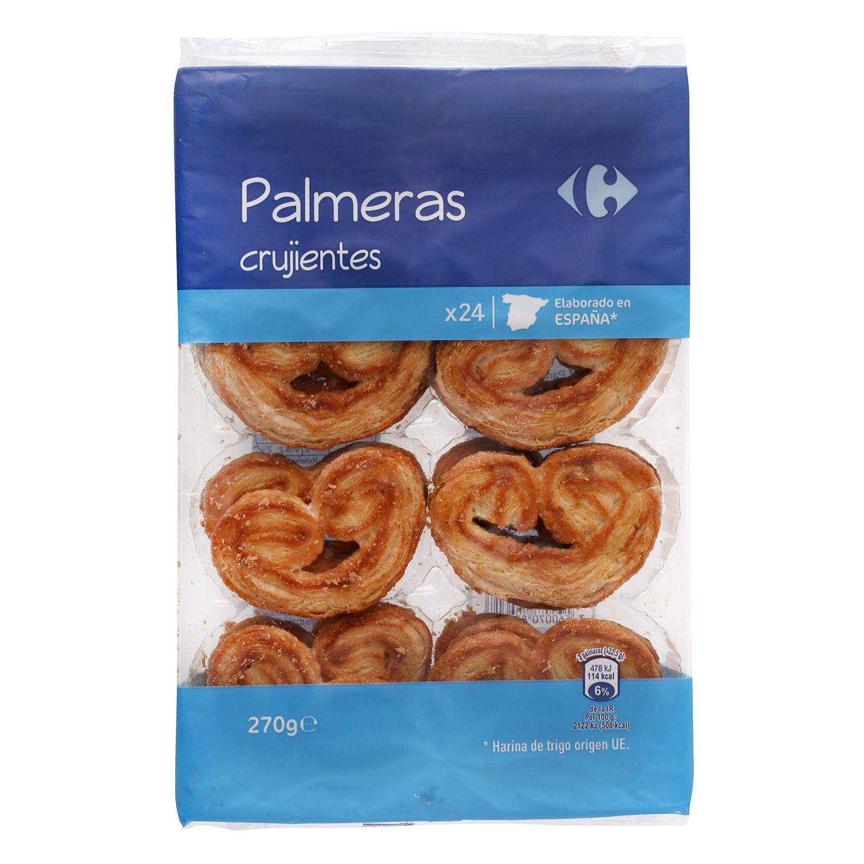Palmeras crujientes Carrefour 270 g.