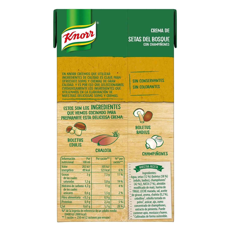 Crema de setas del bosque con champiñones Knorr 500 ml. -