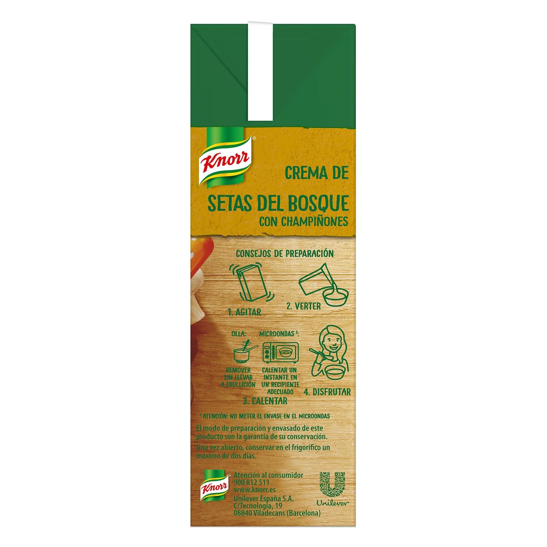 Crema de setas del bosque con champiñones Knorr 500 ml. - 2