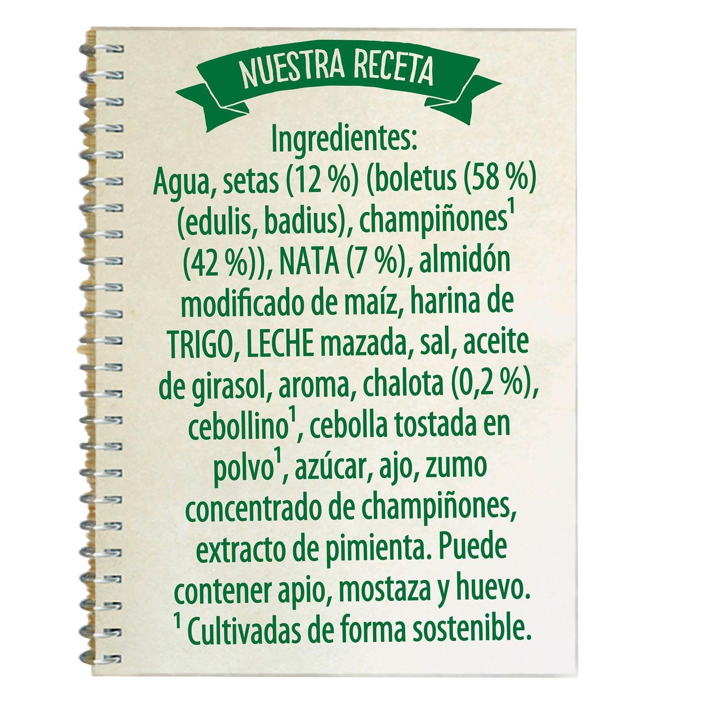 Crema de setas del bosque con champiñones Knorr 500 ml. - 3