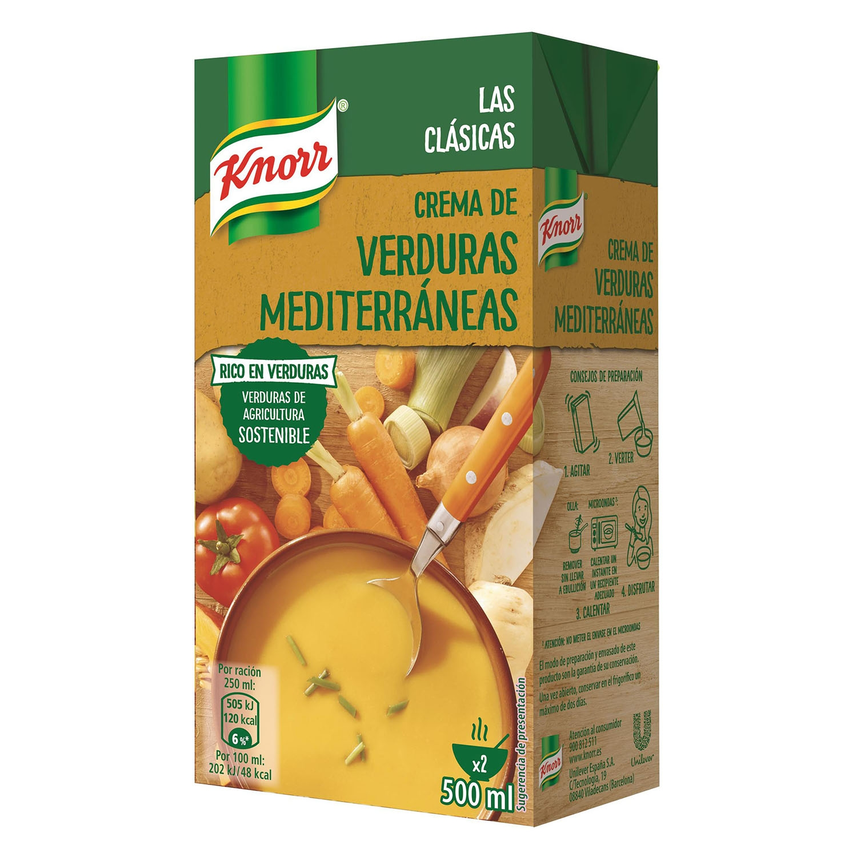 Crema de verduras medite Knorr 500 ml.