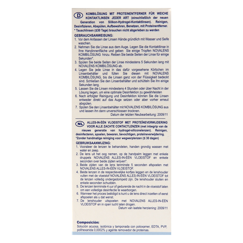 Solución única para lentes de contacto blandas Novalens 500 ml. - 2