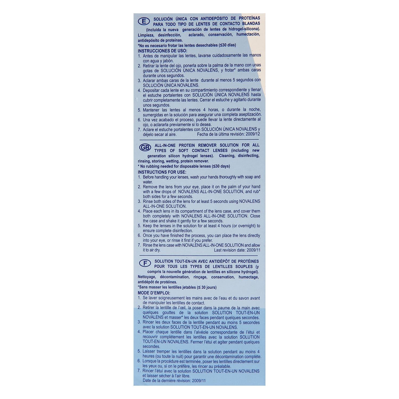 Solución única para lentes de contacto blandas Novalens 500 ml. -