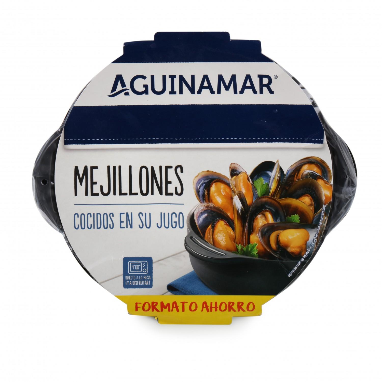 Mejillón cocido en su jugo Aguinamar 800 g