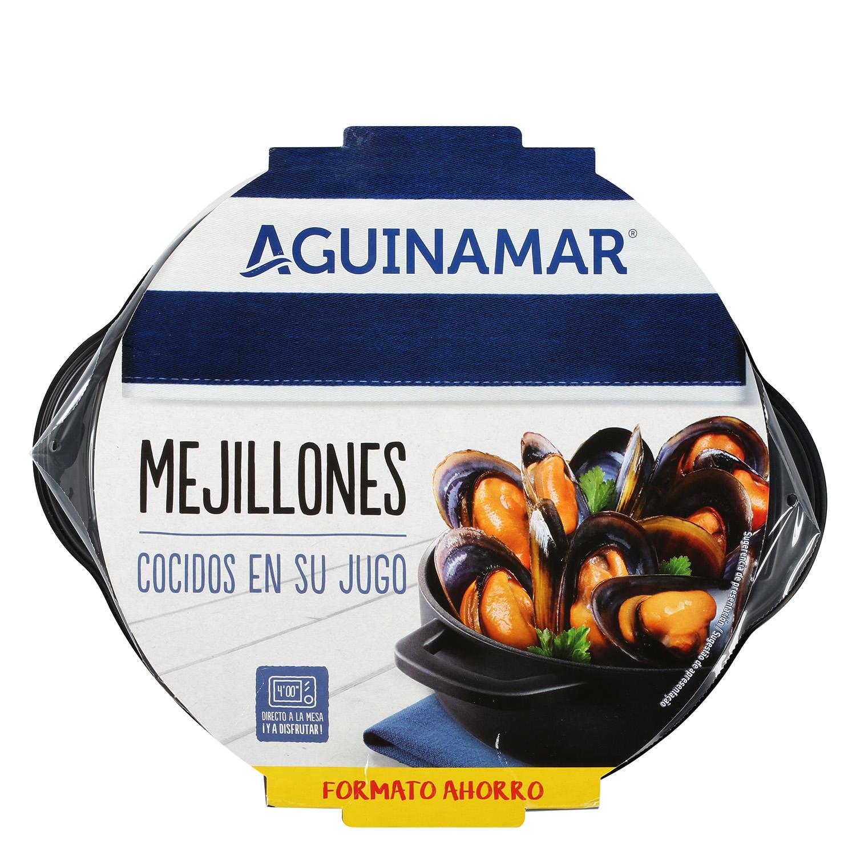 Mejillón cocido en su jugo Aguinamar 800 g - 2