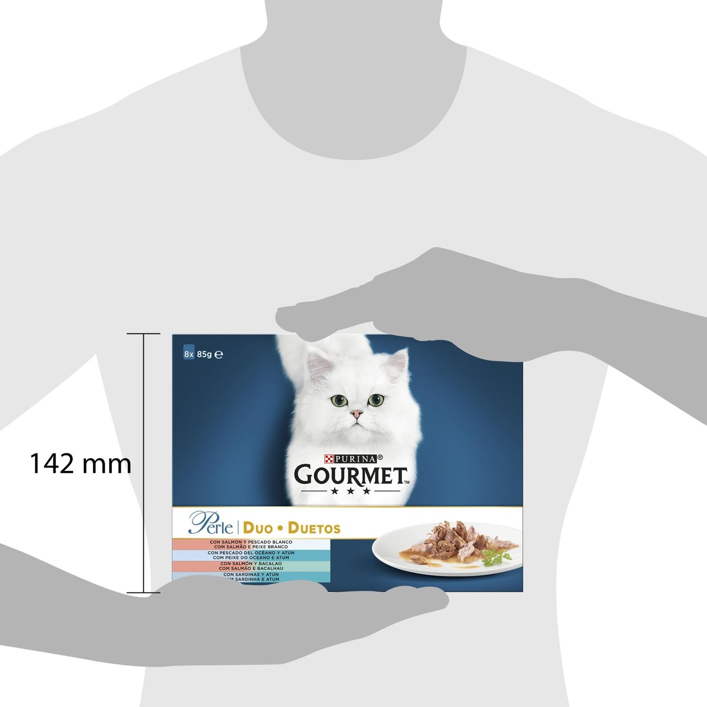 Purina Gourmet Perle Comida Húmeda para Gato Finas Láminas DUO del Mar en Salsa 85g - 2
