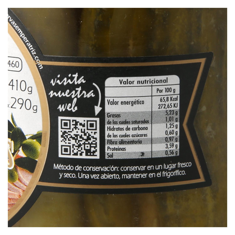 Pepinillos rellenos de aún con aceite de oliva Emperatriz 290 g. - 2