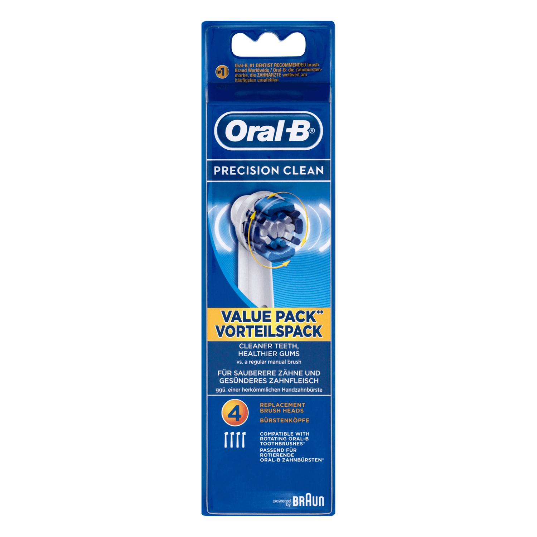 Recambio cepillo dental eléctrico Precision Clean Oral-B 4 ud.