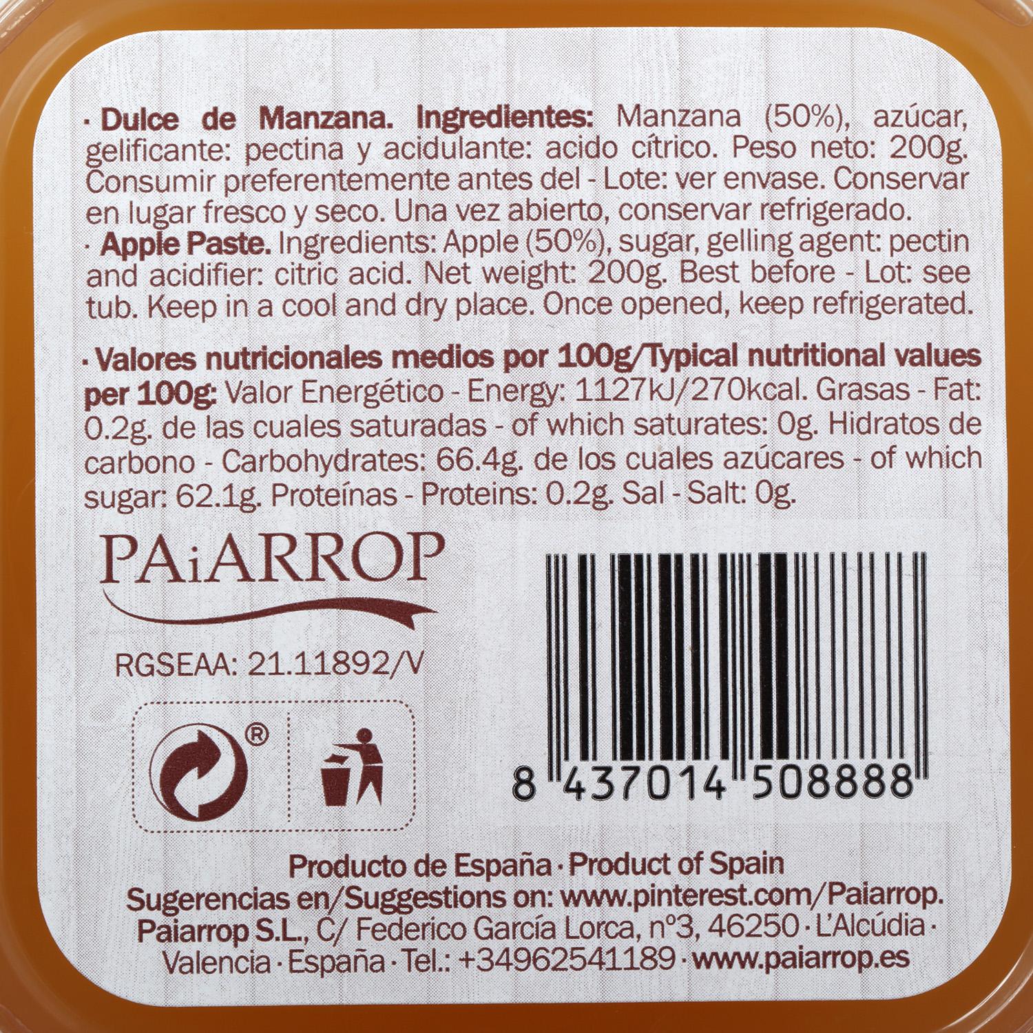 Dulce de manzana Carrefour  200 g - 2