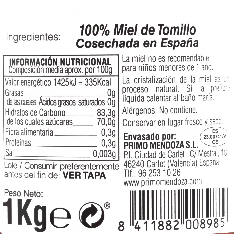 Miel artesana del bosque monofloral Primo Mendoza 1 Kg - 3