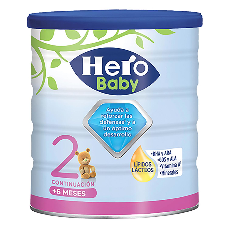 Leche infantil de continuación desde 6 meses en polvo Hero ...