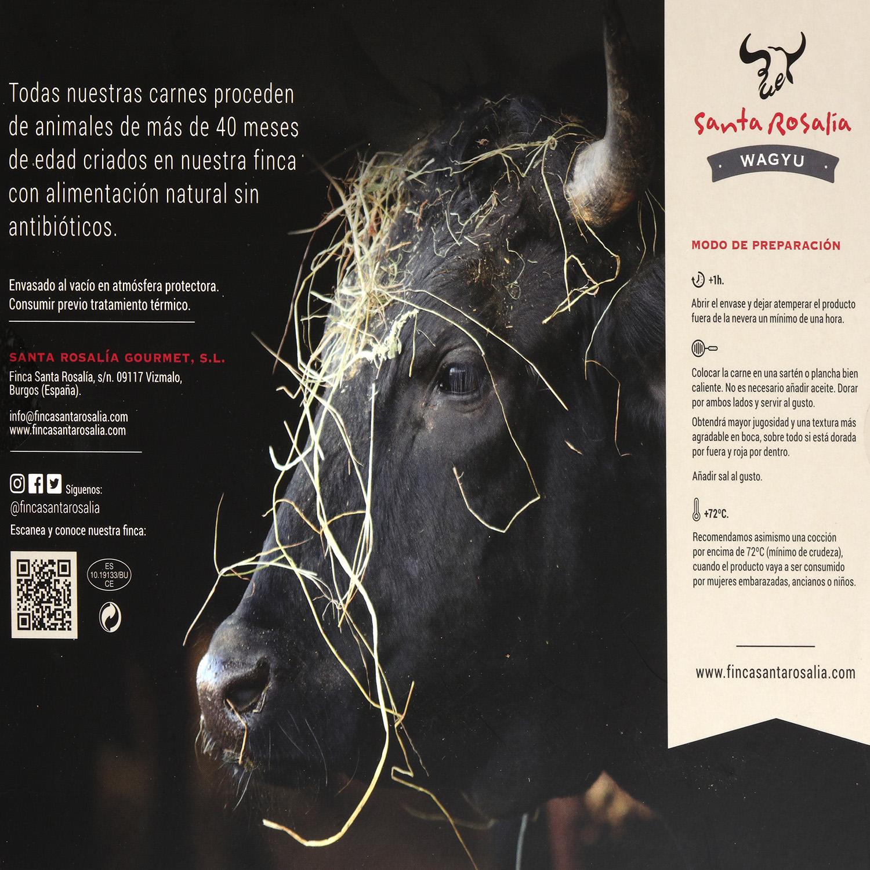 Centro de Babilla de Carne de Wagyu Santa Rosalia Gourmet 275 g -