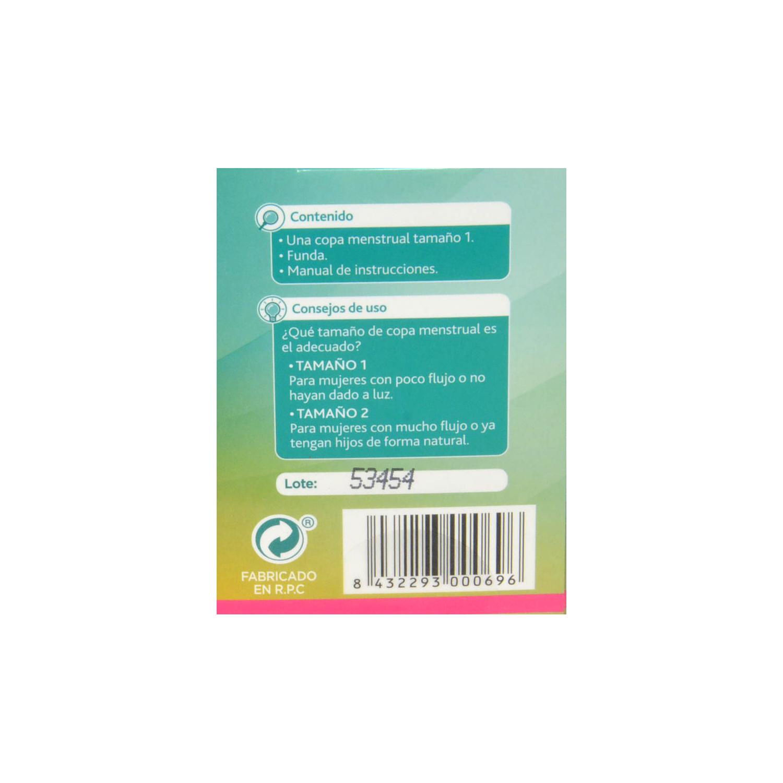 Copa menstrual tamaño 1 reutilizable ecológica Dytas 1 ud. -