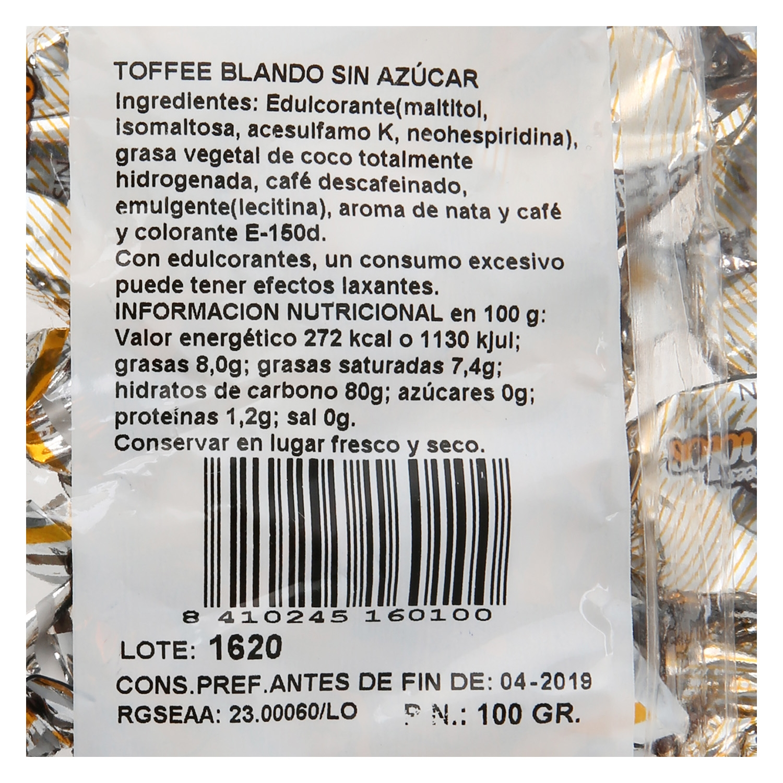 Caramelos sabor toffe El Avión 100 g. -