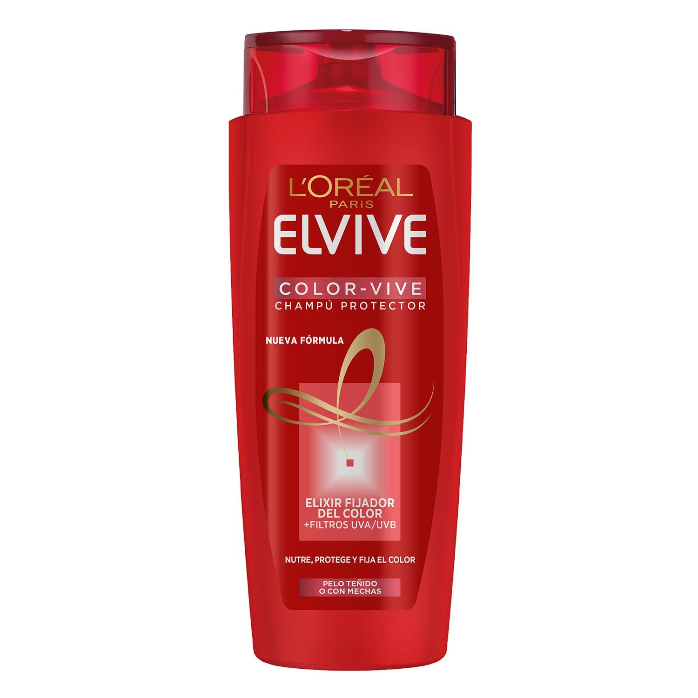 Champú protector color para cabello teñido L'Oréal-Elvive 700 ml.