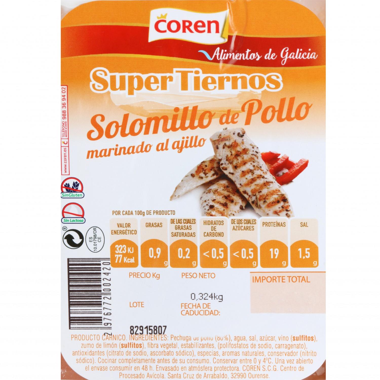 Solomillo de Pollo Marinado Coren 300 g aprox - 3
