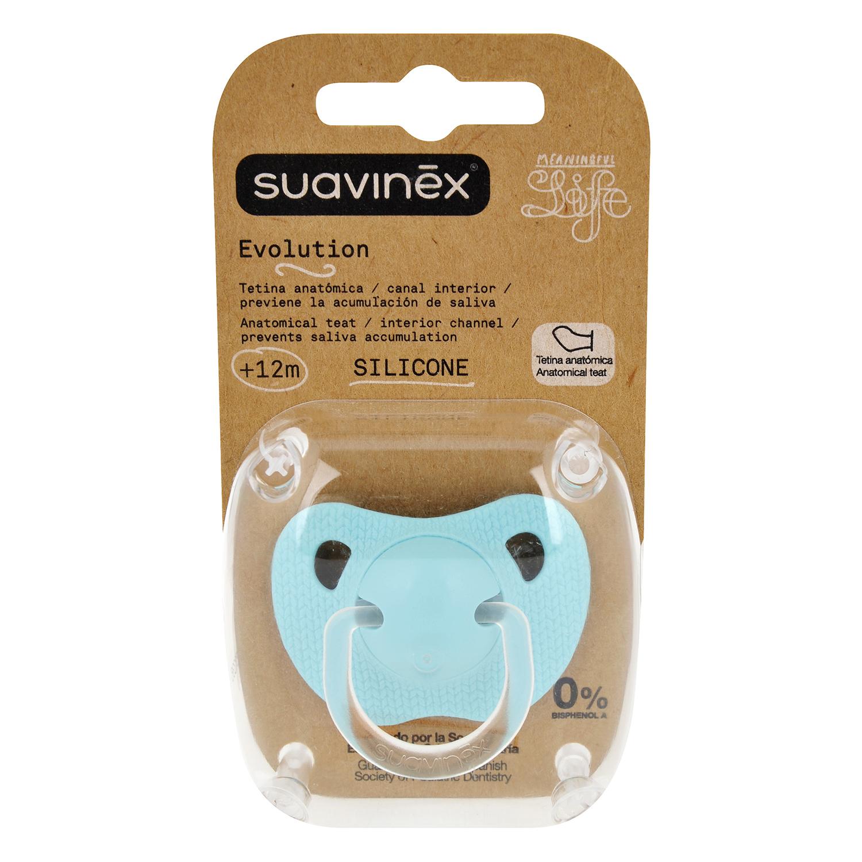 Chupete de silicona 12 meses Suavinex 1 ud.