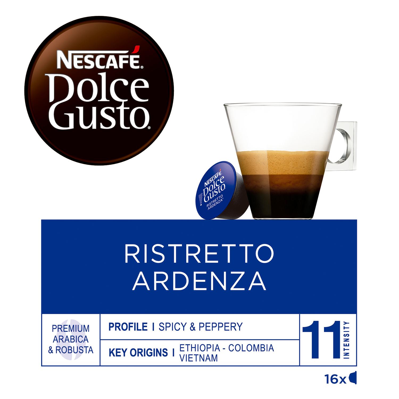Café ristretto ardenza en cápsulas Nescafé Dolce Gusto 16 unidades de 7 g. -