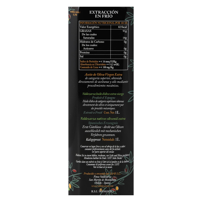 Aceite de oliva virgen extra Valdezarza lata 1 l. - 2