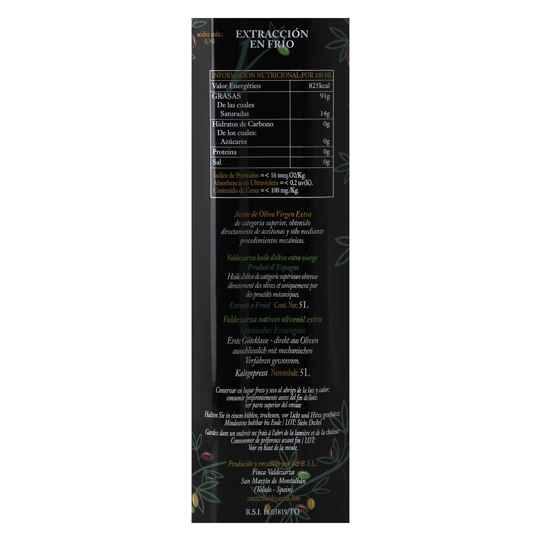 Aceite de oliva virgen extra Valdezarza lata 5 l. -
