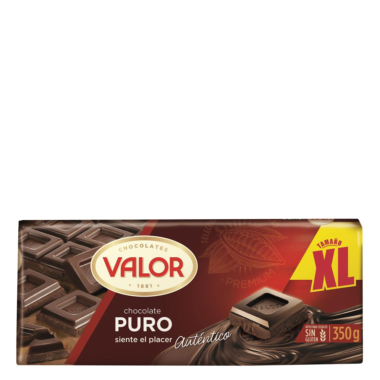 Chocolate puro xl Valor 350 g.