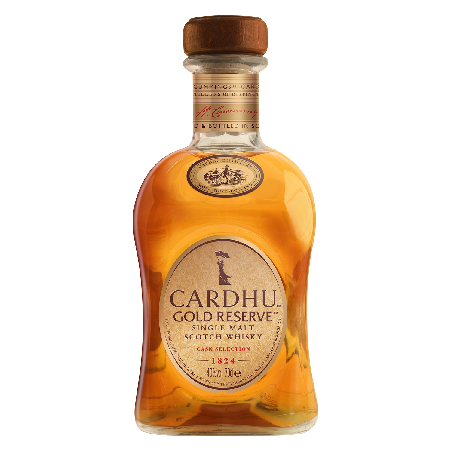 Whisky Cardhu escocés reserva gold 70 cl.