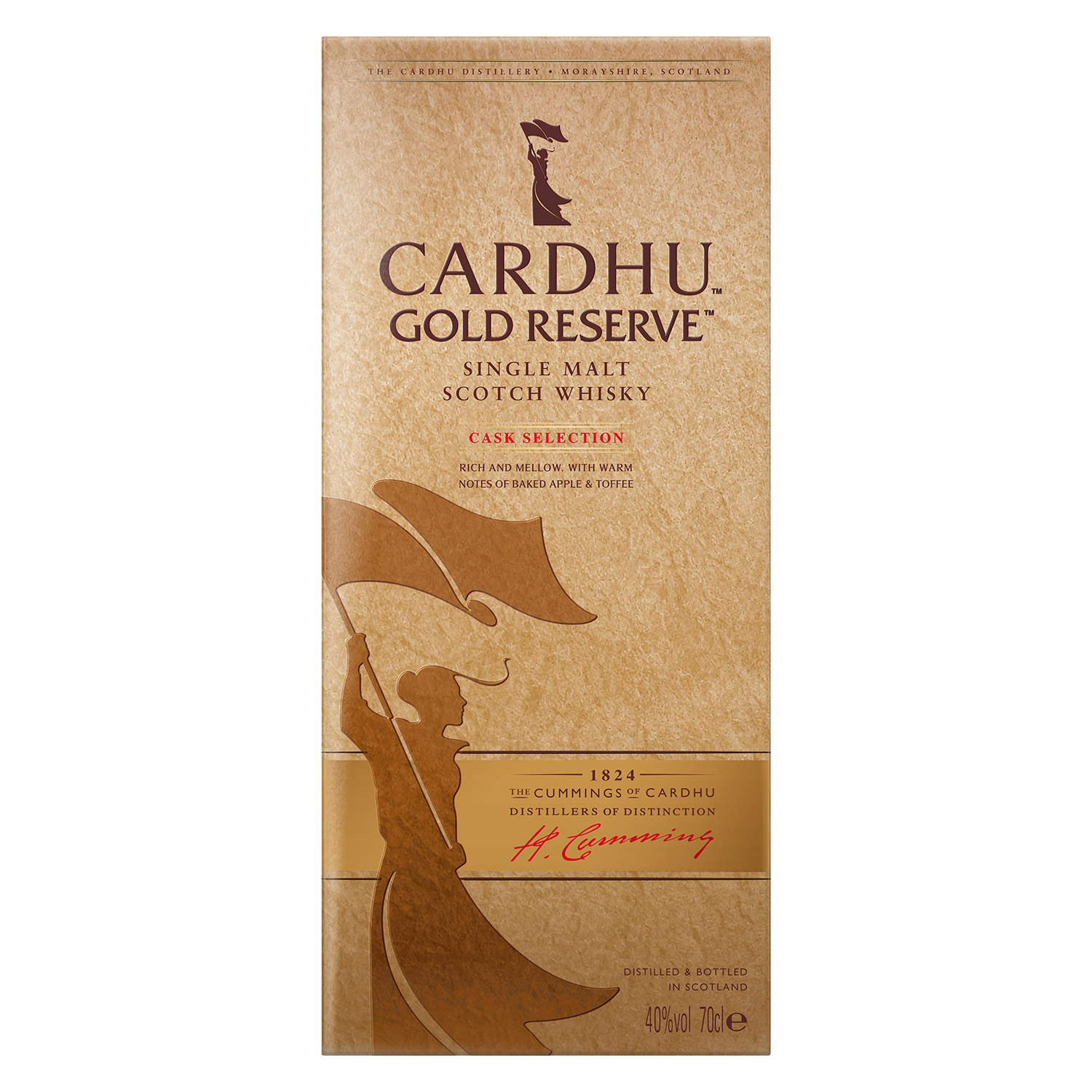 Whisky Cardhu escocés reserva gold 70 cl. -