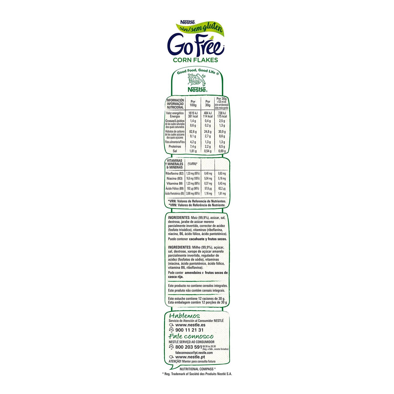Cereales de maíz Corn Flakes Nestlé sin gluten 375 g. -