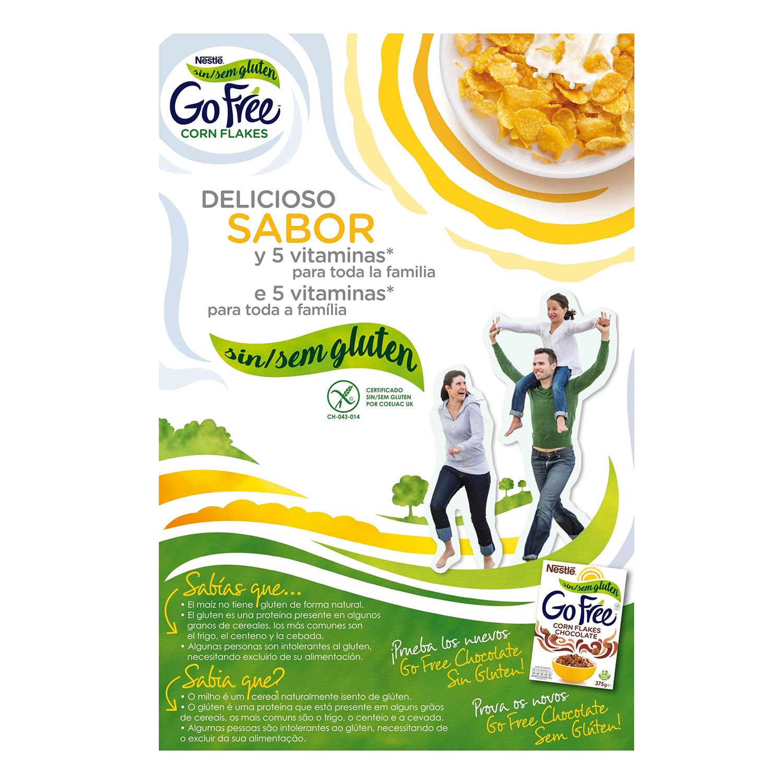Cereales de maíz Corn Flakes Nestlé sin gluten 375 g. - 2