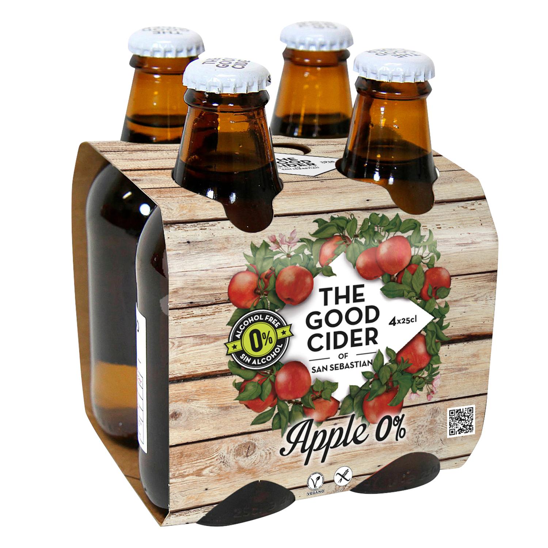 Sidra The Good Cider sin alcohol pack de 4 botellas de 25 cl.