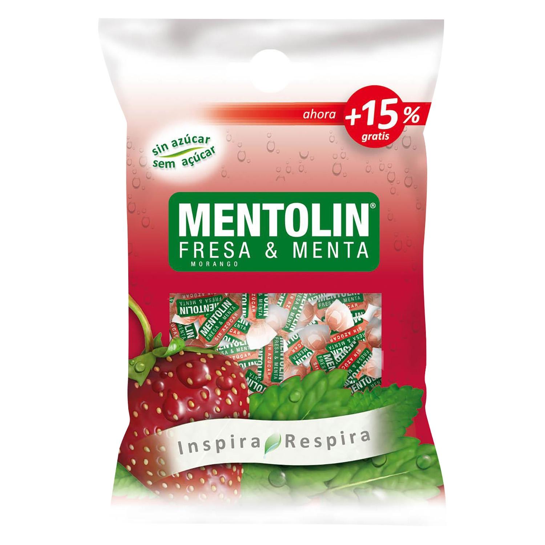 Caramelos sabor fresa y menta Mentolín 115 g.