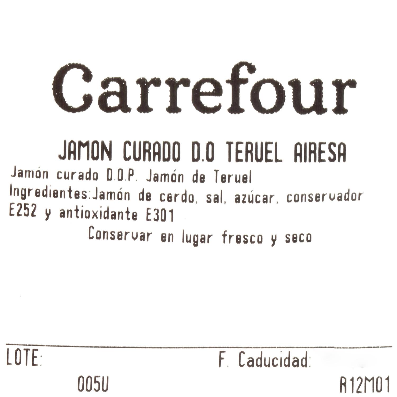 Jamón curado D.O. Teruel Airesano al corte 100 g aprox - 3