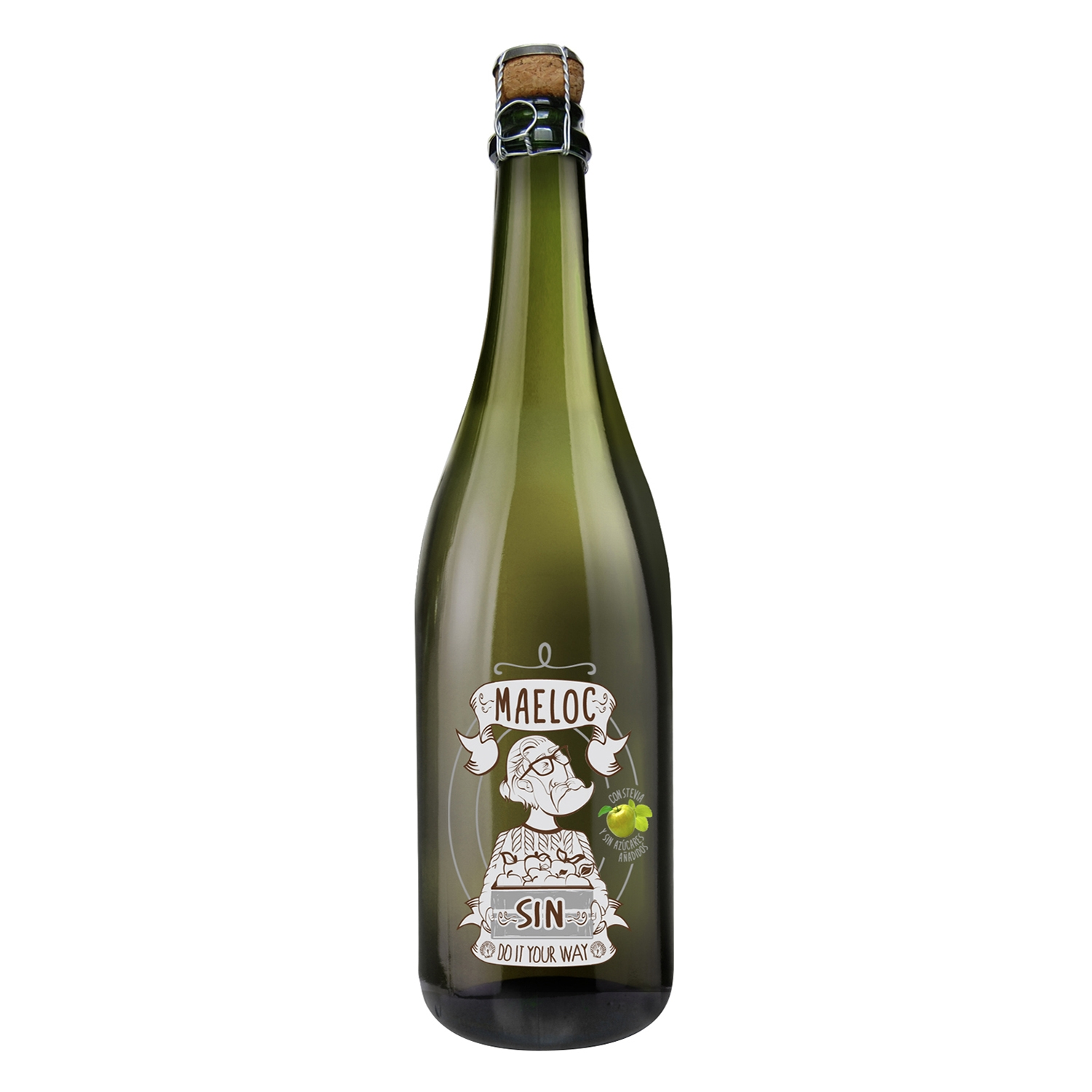 Sidra Maeloc sin alcohol 75 cl.