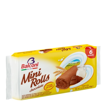 Mini rolls de chocolate Balconi 180 g.