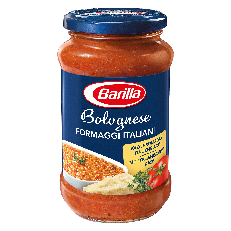 Salsa boloñesa y queso Barilla tarro 400 g.