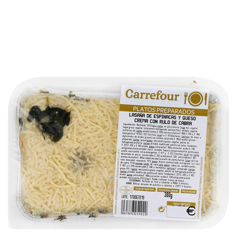 Lasaña de espinacas y queso de cabra - 2