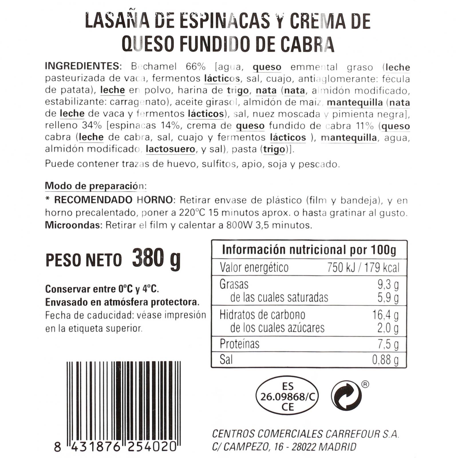 Lasaña de espinacas y queso de cabra - 3