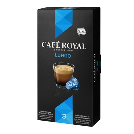 Café lungo en cápsulas Royal compatible con Nespresso 10 unidades de 5,3 g.