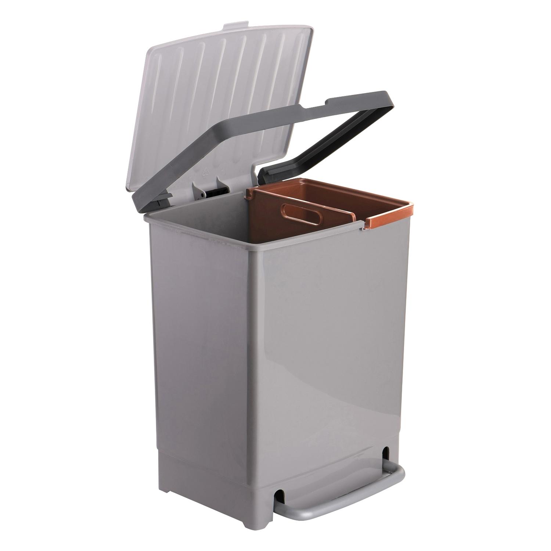 Cubo de basura  Reciclaje 17 + 8 Litros -