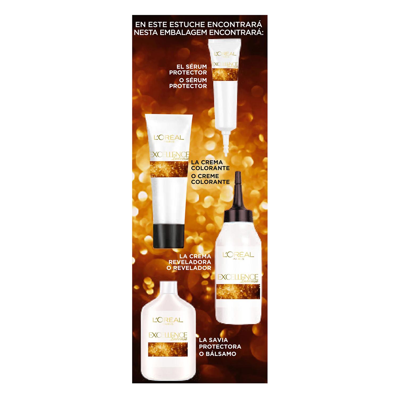 Tinte intense nº 7.43 Rubio Cobrizo Dorado L'Oréal Excellence 1 ud. - 3