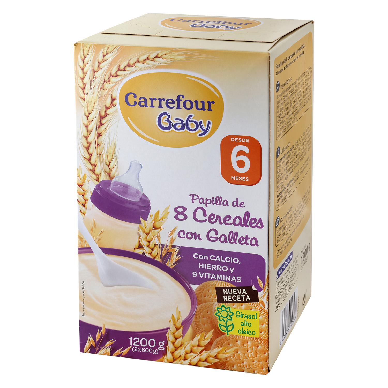 Papilla de 8 cereales con galleta