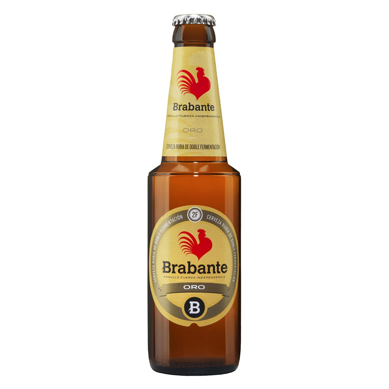Cerveza Brabante Oro doble fermentación botella 33 cl.